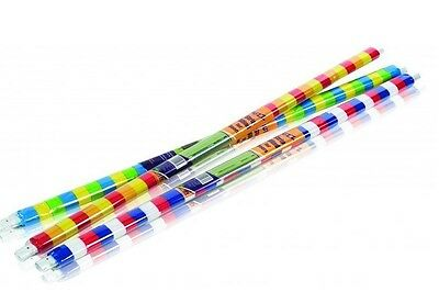 2 X PLASTIC DOOR STRIP CURTAIN FLY INSECT STRIPED BLIND SCREEN COLOURED STRIPS • 12.99£