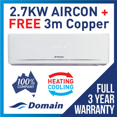 AU550 • Buy New Domain 2.7kw  Split System Reverse Cycle Air Conditioner Cooling / Heating