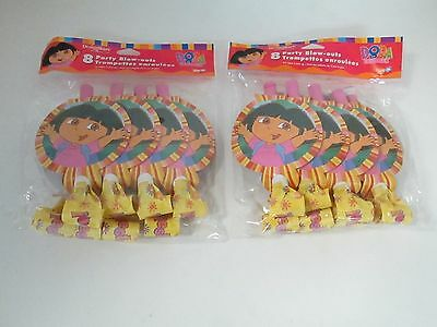 Dora The Explorer Party Blow-outs  Blowers -- Lot Of 2 Pacakges - Party Supplies • 7.17£
