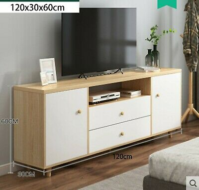 AU129 • Buy 120cm Modern TV Stand Cabinet Wood Entertainment Unit Storage Drawer Maple