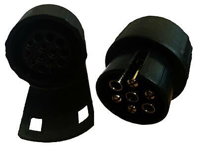 7 Pin To 13 Pin TRAILER TOWBAR TOWING SOCKET ADAPTOR PLUG CONVERTER • 4.99£