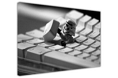 £9.99 • Buy Canvas Wall Art Print Lego Star Wars Imperial Stormtrooper Pictures Kids Poster