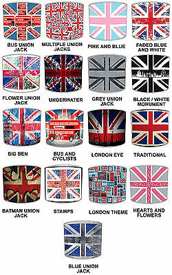 Union Jack Lampshades Ideal To Match London Duvets, Curtains & London Cushions. • 27.99£