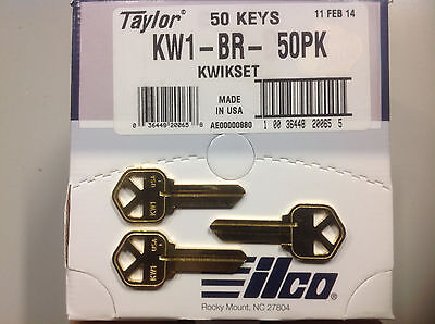 $ CDN18.14 • Buy Key Blanks For Locksmith / 50 Kwikset KW1 / Brass / Made By Ilco