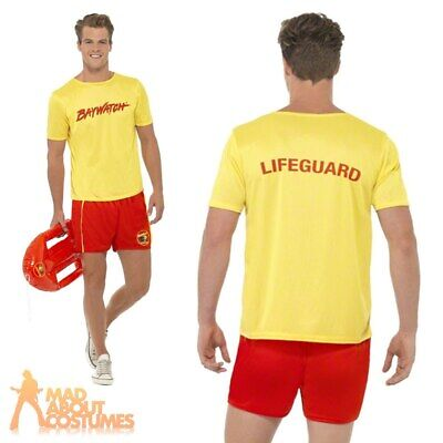 £21.99 • Buy Mens Baywatch Costume Stag Party Beach Fancy Dress 80s 90s Officially Licensed
