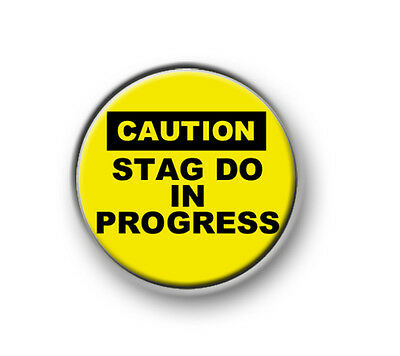 "STAG DO IN PROGRESS /  1"" / 25mm Pin Button / Badge / Stag / Wedding / Hen Night • 0.99£"