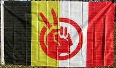 $8.69 • Buy American Indian Movement Flag 3x5 Ft AIM Native American Rights Protest Banner