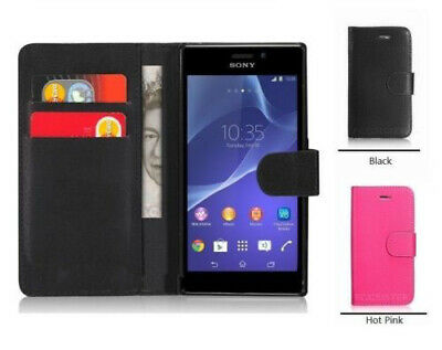 AU5.94 • Buy Black WALLET Phone Case Card Slots For Sony Xperia XZ3 UK Free Post