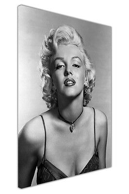 £14.99 • Buy Black White Marilyn Monroe Portrait Canvas Wall Art Picture Hollywood Star Print