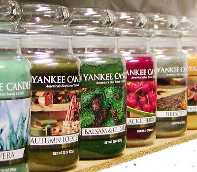 (F-L Scents) Yankee Candle LARGE 22 Oz TUMBLER & JAR CANDLES Retired New CHOICES • 21.46£