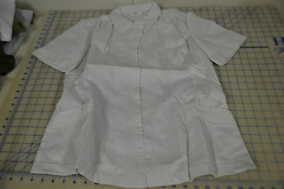 $9.99 • Buy 10 R Womens Top Blouse Tunic Hospital Duty Military 3/4 Zip  Poly Cotton Blend