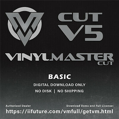 £39.99 • Buy Easy To Use Vinyl Cutter Software For Sign Cutting Plotters VinylMaster CUT V4