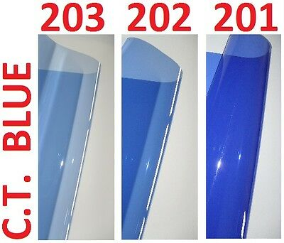 3 X CTB BLUE Lighting Filter Gel Sheets 24  X 24  201 202 203 1/4 1/2 FULL BLUE • 13.99£