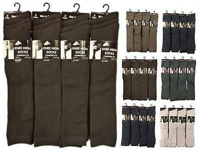 6 Pairs Of Ladies Girls Knee High Socks, Long School Socks, All Sizes & Colours • 5.95£