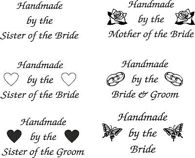 £9.99 • Buy Personalised Handmade By The Bride Rubber Stamp 11637 Wedding Favours Tags Gifts