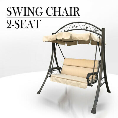 AU224.90 • Buy Outdoor Swing Chair Canopy Hanging Chair Garden Bench Seat Steel Frame Cushion