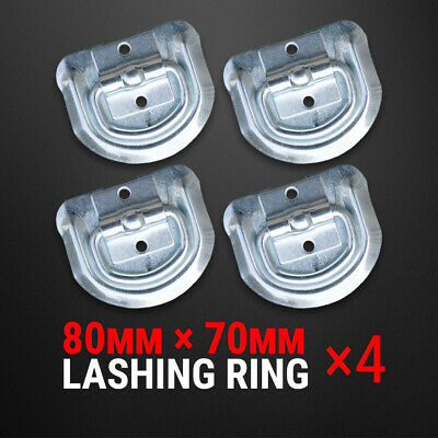AU10.85 • Buy 4 Pcs Lashing D Ring Zinc Plated Rope Ring Tie Down Anchor Trailer UTE