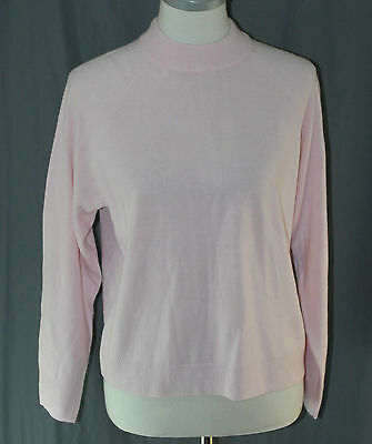 $ CDN27.68 • Buy Debbie Morgan, Large, Pink Ice, Zip Back Mock Neck Sweater, New With Tags