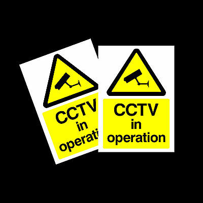 Sticker Warning CCTV Sign Camera All Sizes /& Materials MISC12 Security