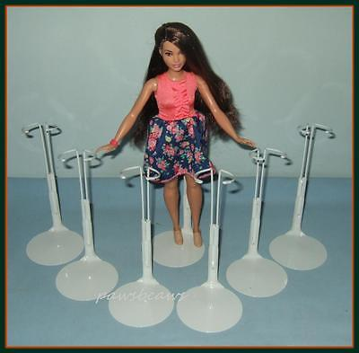 £16.58 • Buy 6 Kaiser Doll Stands For NEW Curvy Body Barbie FASHIONISTA 12  SHIRLEY TEMPLE