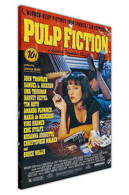 £9.99 • Buy Pulp Fiction Movie Poster Canvas Wall Art Pictures Home Decor Prints Film Art