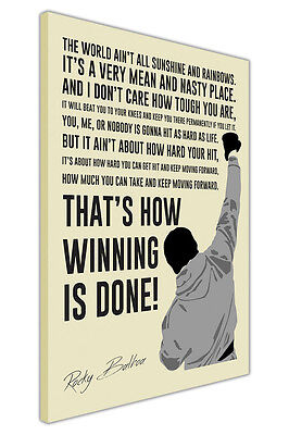 £9.99 • Buy Portrait Rocky Balboa Movie Quote Canvas Wall Art Pictures Posters Boxing Prints