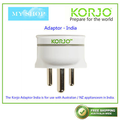 AU17.50 • Buy KORJO Travel Plug Adaptor From Australia /NZ To India (KAIN)