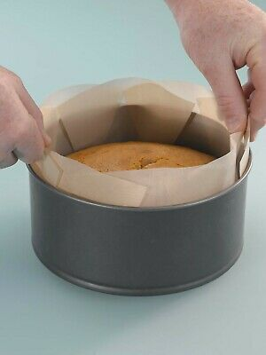2 X LIFT OUT CAKE TIN LINER. Non Stick, Reusable -  Fits 7/8/9 Inch Tins • 6.99£
