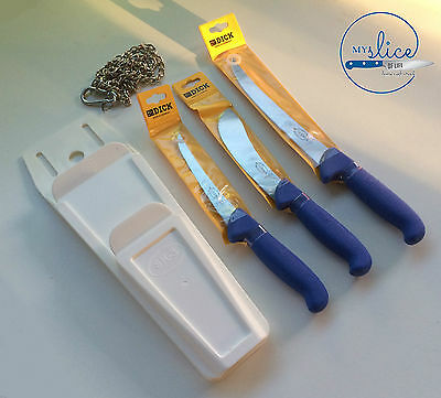 AU126.99 • Buy F Dick Pro Butcher 3 Piece Knife Set, Mars Pouch & Stainless Chain