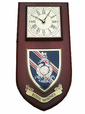 Royal Marines Regimental Military Wall Plaque Clock • 29.99£