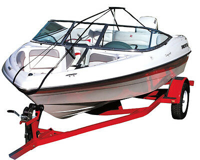 Boat Cover Support Pole Stand Kits + Straps Speedboat Rib Dinghy Fishing V-hull • 318.99£