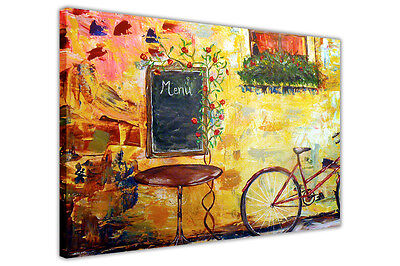 £27.99 • Buy Idyllic Cafe Canvas Wall Art Pictures Home Decoration Prints Painting Reprint