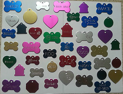 $4.98 • Buy Custom Engraved Dog Pet Tag Single Side Personalized Id Dog Cat Charm Tags