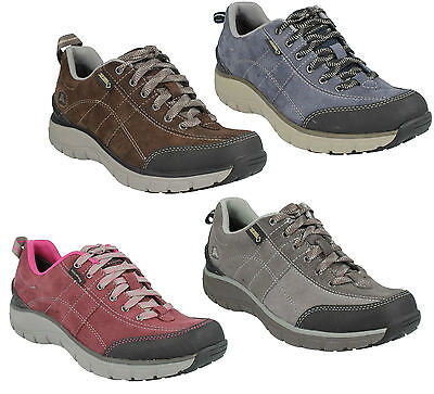 £49.99 • Buy Wave Trail Gtx Ladies Clarks Leather Lace Up Casual Waterproof Trainer Shoes