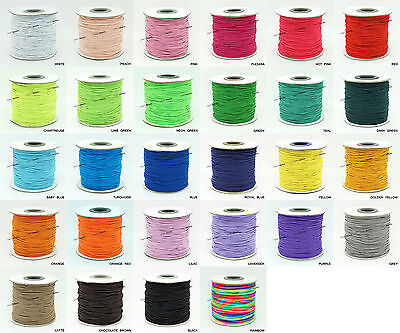 $ CDN33.55 • Buy 1mm Nylon Coated Round Elastic Cord Stretch Beading Mala String - Choose Color!