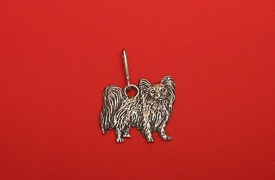 £5.99 • Buy Papillon Dog Pewter Zipper Pull Useful Dad Mother Christmas Papillon Gift NEW