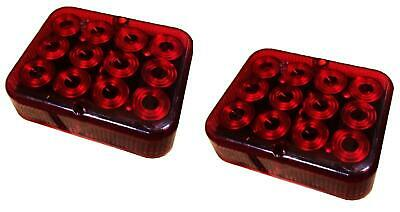 £8.99 • Buy 2 X RED AUXILIARY LED FOG LAMP LIGHT 12v E APPROVED TRAILER BOARD TOWING