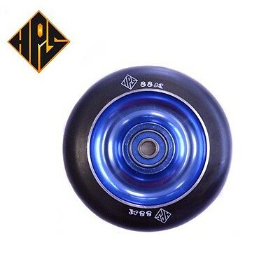 £19.97 • Buy 2X PRO STUNT SCOOTER SOLID BLUE METAL CORE WHEELS 100mm 88A PU ABEC 9 BEARINGS