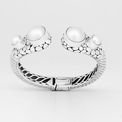 $350 • Buy Handcrafted Artisan Sterling Silver Bracelet With Mabe Pearls (Handmade)