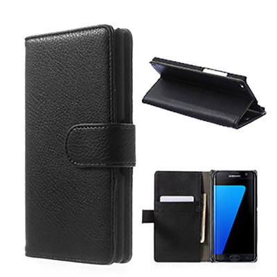 AU5.92 • Buy BLACK WALLET Leather  Case Phone Cover For  Samsung Galaxy J6 2018 UK FREEPOST