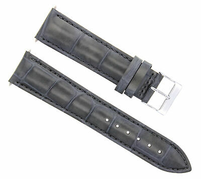 $ CDN20.13 • Buy 20mm Italian Leather Watch Strap Band For 36mm Rolex Datejust, Date Watch  Grey