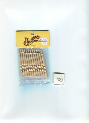 $4.33 • Buy Spindles Balusters 7019 Wooden Dollhouse Miniature 12pc/Pk 1/12 Scale