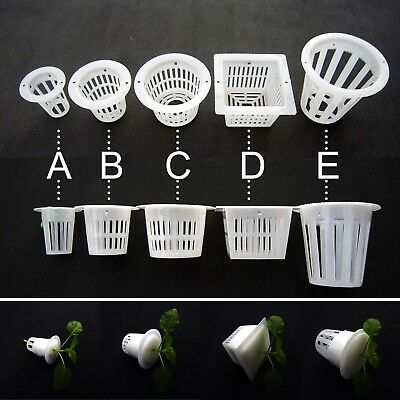 $ CDN4.96 • Buy 10X Clear White Mesh Pot Net Cup Basket Hydroponic Aeroponic Plant Grow Clone