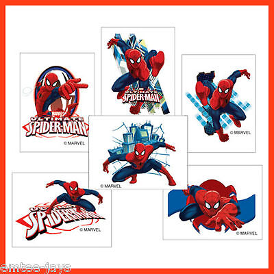 £3.77 • Buy Ultimate Spider-Man Tattoos X 12 Pieces- Party Favours - BIRTHDAY, Spiderman