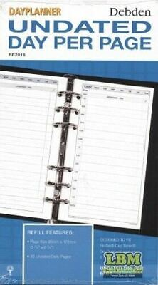 Collins Personal Size Undated (Any Year) Day Per Page Diary Insert Refill PR2015 • 3.99£