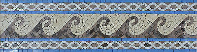 £86.86 • Buy Waves Motion Continuous Border Pattern Decor Marble Mosaic BD796