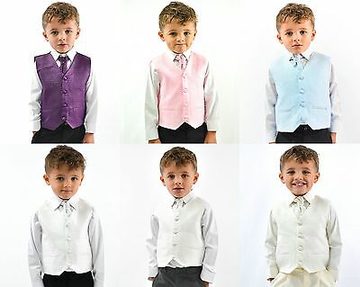 £19.99 • Buy Boys Suits Waistcoat Suits Boys Wedding Suits 4pc Baby Page Boy Party 6 Colours