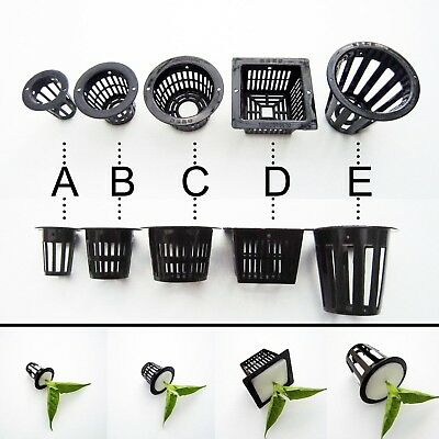$ CDN4.33 • Buy 10pcs Mesh Pot Net Cup Basket Hydroponic Aeroponic Plant Grow Clone Kit Hanging