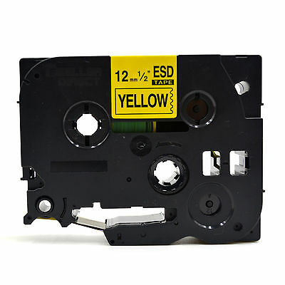 £23.89 • Buy Label Tape For Brother TZ-631 P-Touch Black On Yellow 12mm X 8m TZe-631