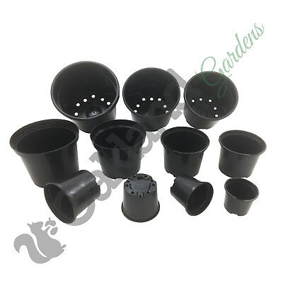 Strong Black Plastic Plant Pot Flower Pots 1 To 20 Litre Garden Planter Herb • 26.65£